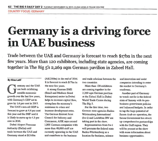 Germany is a driving force in UEA business